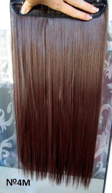 Волосы на заколках тресс затылочная прядь ТЕРМО волосы №4М Реальные фо
