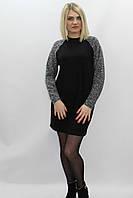 Сукня жіноча чорна і рукав-реглан сірий