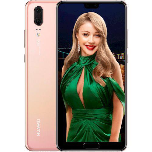 "Смартфон Huawei P20 4/128GB Pink gold, 20+12/24Мп, 5.8"" IPS, 2sim, 3400 мА*ч, Kirin 960, 8 ядер, 4G (LTE)"