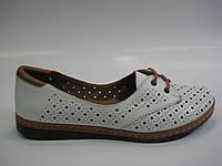 Кожаные женские мокасины на шнурках, фото 1