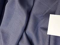 Льняная сорочечная ткань, голубо-серого цвета