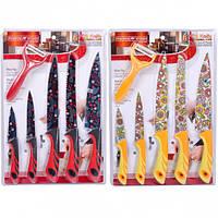 """Набор цветных ножей на блистере, 6 предметов """"Красный"""""""