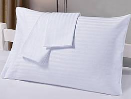 Наволочки HOTEL САТИН-СТРАЙП (белые, 100% хлопок)