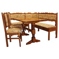 Деревянный кухонный уголок 3. Комплект мебели на кухню