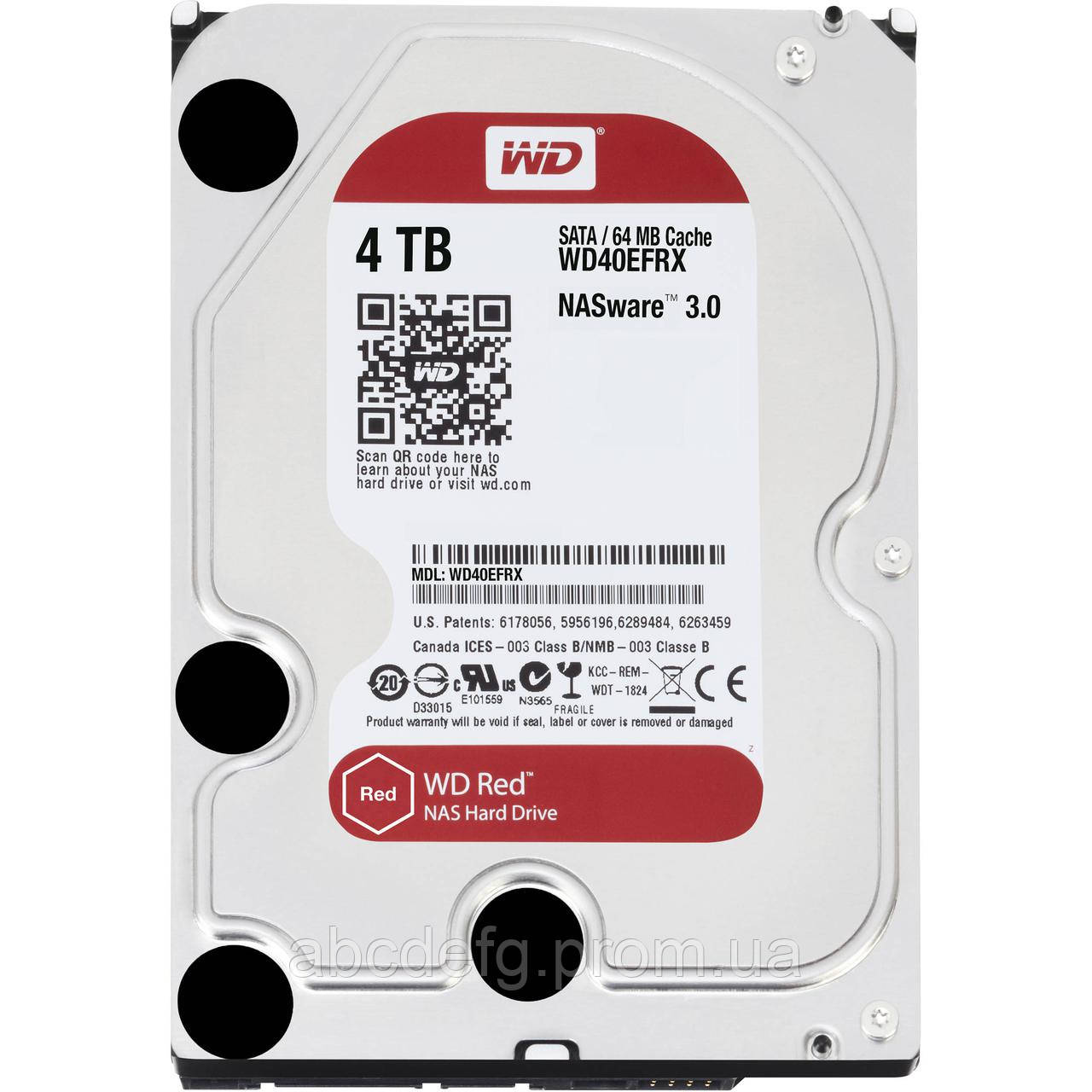 Жесткий диск Western Digital Red 4TB 5400rpm 64MB 3.5 SATA III