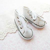 Обувь для кукол, кеды на шнуровке белые - 7*3 см