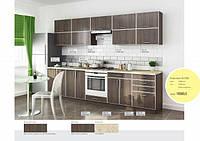 Кухня Прямая из ДСП Дуб санома трюфель в алюминиевой рамке!, фото 1
