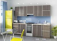 Кухня Прямая из ДСП Дуб санома в алюминиевой рамке!, фото 1