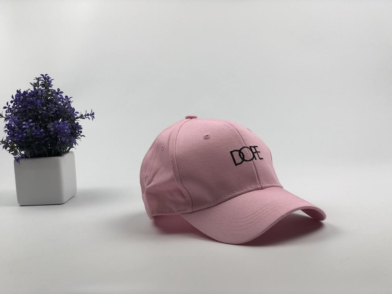Кепка бейсболка Dope (розовая)