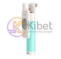 Палка для селфи Remax Mini Wired Selfstick P6, White/Blue, проводное управление