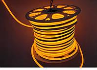 Лед Неон Гибкий 220V Желтый (АМБЕР) IP67, фото 1