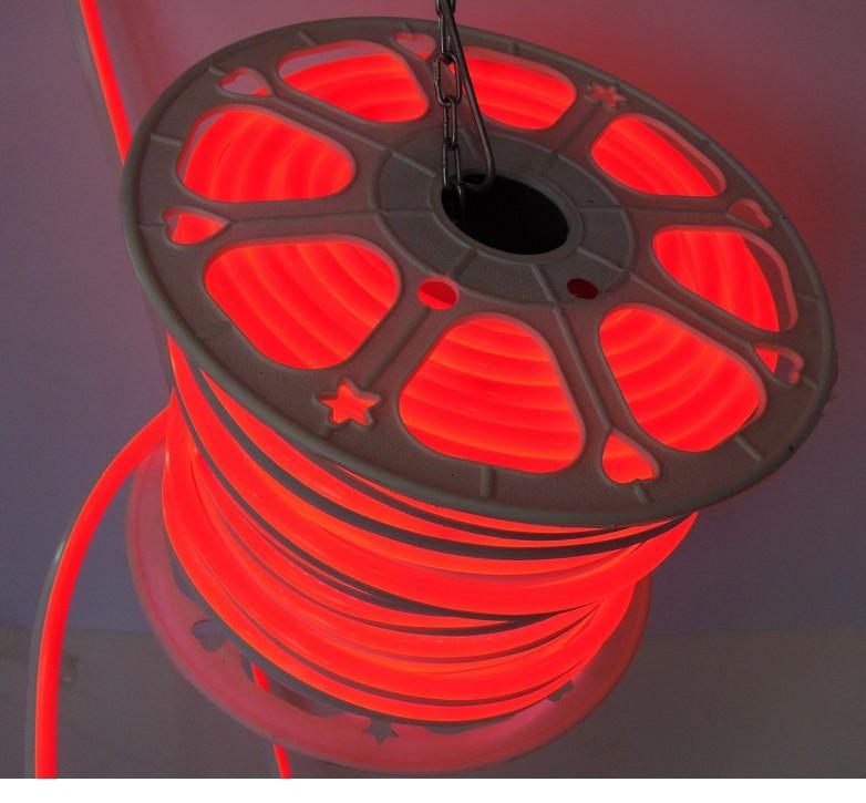 Гибкий Лед Неон 220V Красный IP67