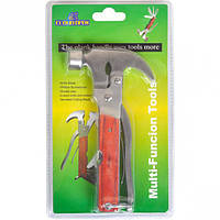 Нож карманный многофункциональный металл Молоток-Гвоздодер 16,5*9*2,5см