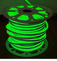 Гибкий Лед Неон 220V Зелёный IP67 , фото 1
