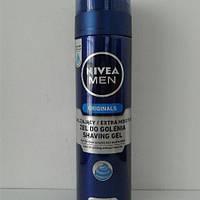 Гель для бритья мужской Nivea Originals 200 мл. (Нивея Увлажняющий)