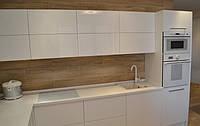 Кухня Белая без ручек (открывание Tip-On) из крашенного МДФ, фото 1