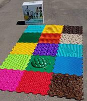 Ортопедический коврик пазл для детей Ортодон массажный комплект из 15 пазлов