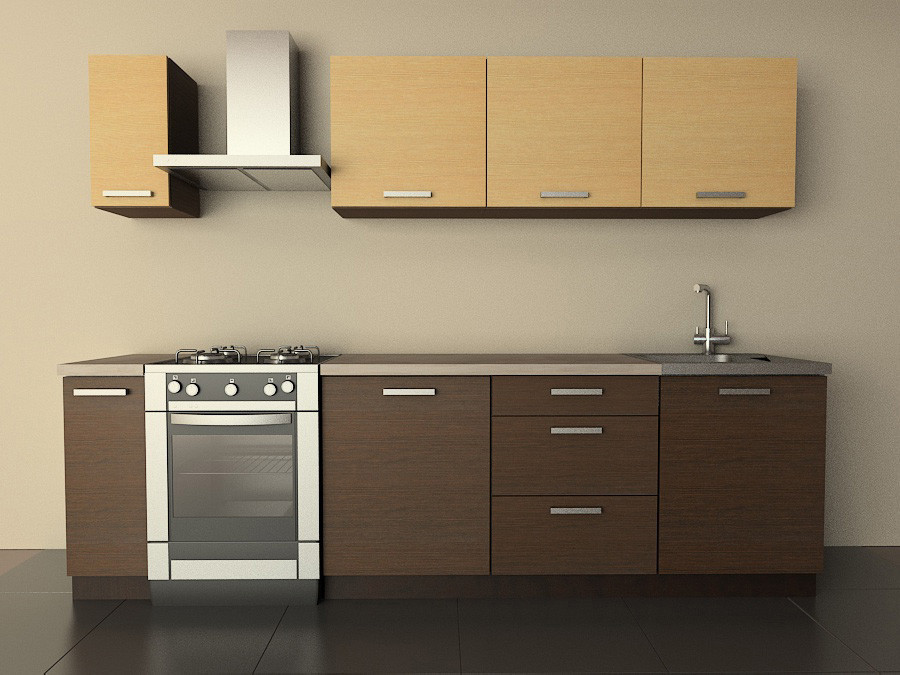 Кухня Типовая 2.1м из пленочного МДФ