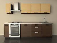 Кухня Типовая 2.1м из пленочного МДФ, фото 1