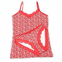 Красный комплект женского нижнего белья  Gelincik