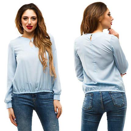 Блуза с вырезом-капелькой, фото 2