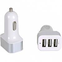 Автомобильный 3-USB адаптер 1.1А/2.1А/3.1А