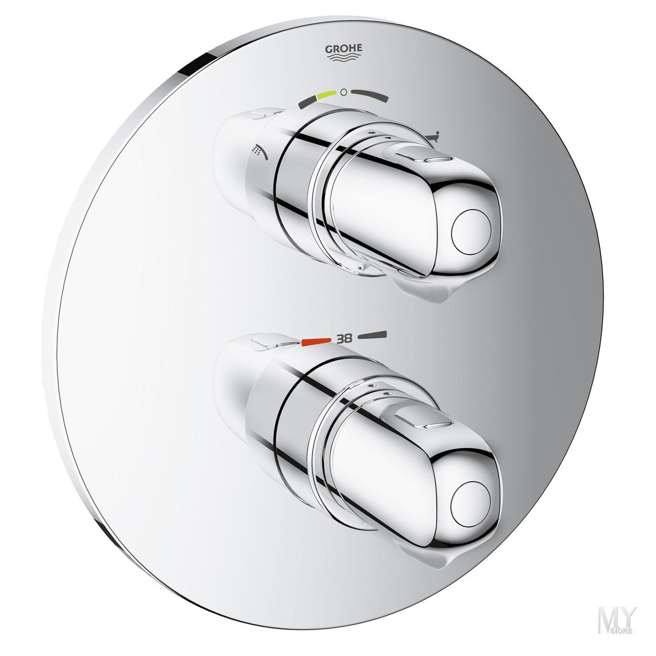 Внешняя часть термостатического смесителя для ванны GROHE Grohtherm 1000 New, хром (19986000)