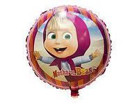 """Фольгированные шары с рисунком 18"""" Маша и Медведь FlexMetal, фото 1"""