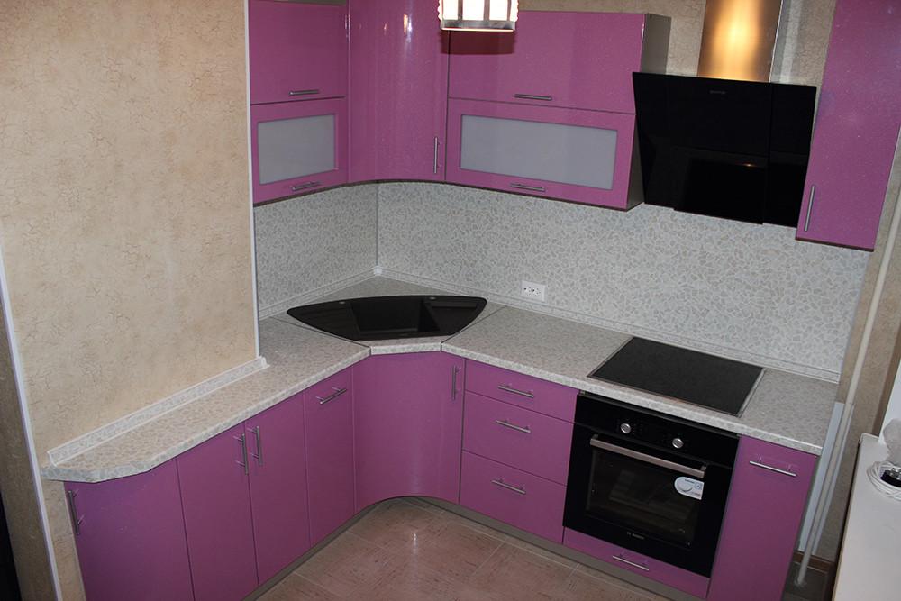 Кухня Металлик Фиолетовый из пленочного МДФ