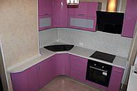Кухня Металлик Фиолетовый из пленочного МДФ, фото 1