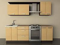 Кухня Типовая 2.0м из пленочного МДФ, фото 1