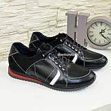 Кроссовки черные мужские на шнуровке, натуральная кожа и замша., фото 4
