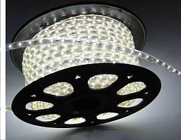 Светодиодная лента LED 3528-60 220V IP67 Холодно-белая (СТАНДАРТ)