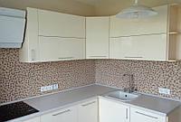 Кухня Ваниль глянец  из пленочного МДФ, фото 1