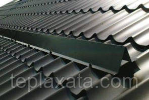 Снегозадержатель уголковый для металочерепицы, полиестер, 0,45 мм (2 метра)