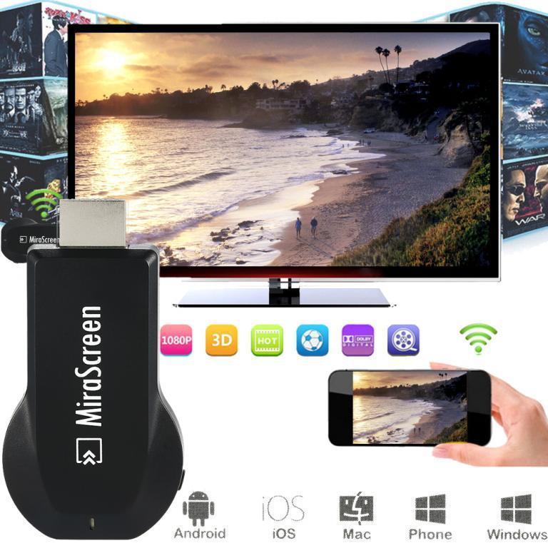 Miracast | MiraScreen Wi-Fi адаптер | EZcast (HDMI через Wi-Fi)