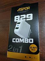 СЗУ ASPOR A 829 micro 2.4A с кабелем