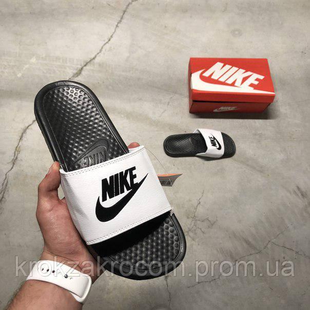 856f76d6 Сланцы Мужские Nike Benassi JDI Black White Replica AAA 42-26.5 См ...