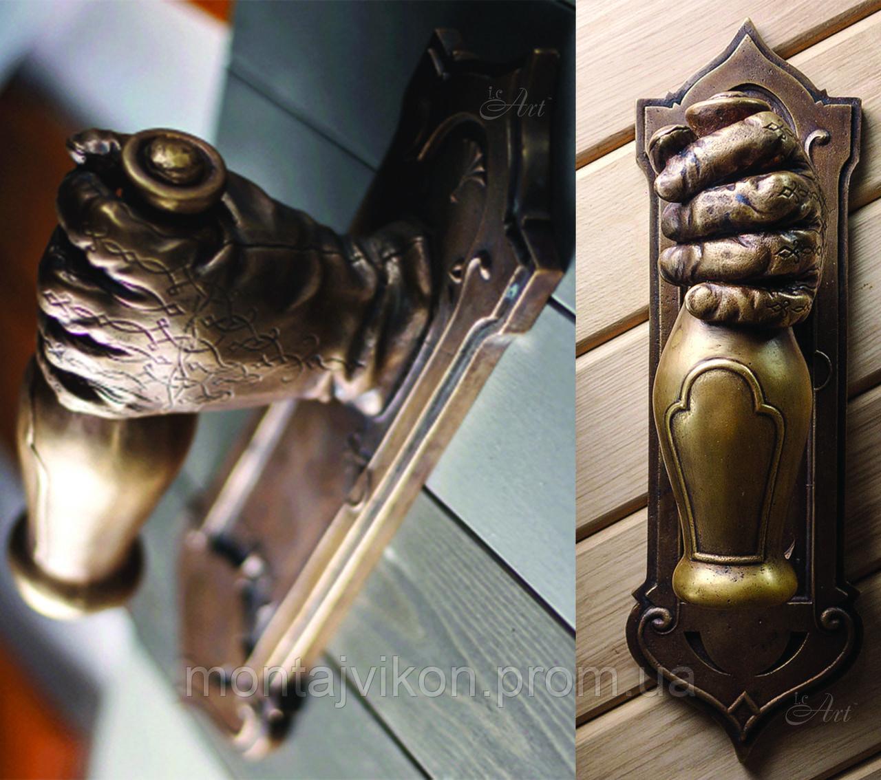 Латунная дверная ручка Паб - фото 5