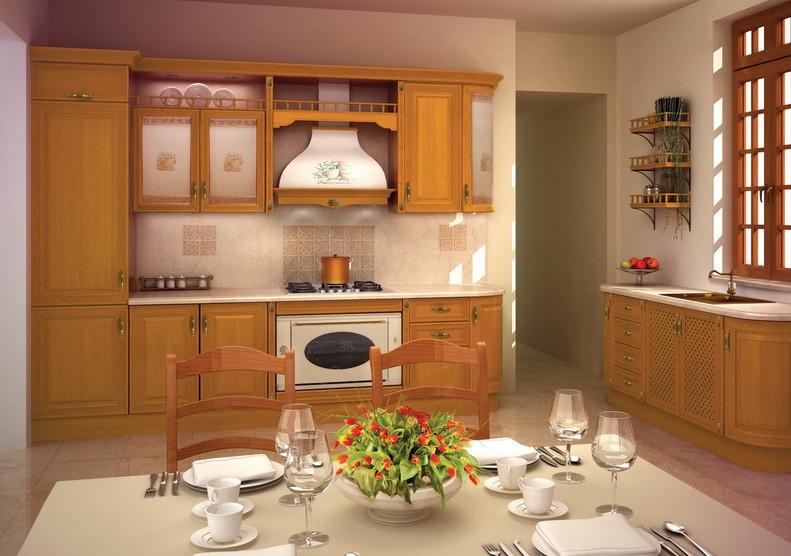 Кухня Исола из массива