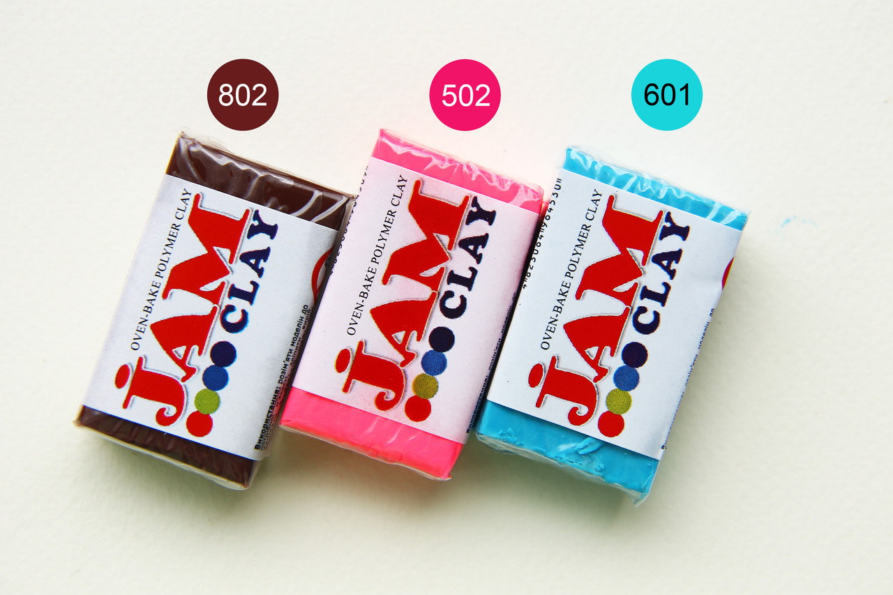 МПолимерная глина Jam Джам (Украина) 20 г, 802 молочный шоколад