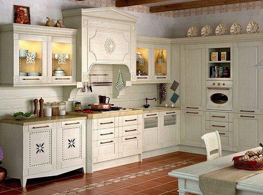 """Кухня """"Флореале-Креона"""" из из массива"""