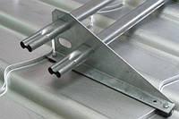 Снегозадержатель трубчатый ORIMA LE (цинк) с 2 овальными трубками для металлочерепицы, 3 метра