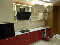"""Кухня """"Красно-белая"""" из пленочного МДФ, фото 1"""