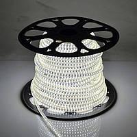 Светодиодная лента 220V SMD 3528 120 LED IP67 Холодно-белая (СТАНДАРТ)
