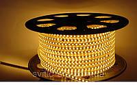 Светодиодная лента 220V SMD 3528 120 LED IP67 тёплая (СТАНДАРТ)