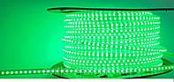 Светодиодная лента 220V SMD 3528 120 LED Зелёная IP67, фото 1