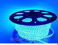 Светодиодная лента 220V SMD 2835 120 LED IP67 Синяя (СТАНДАРТ)