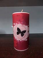 Свеча декупаж столбик круглий (300-310 г), фото 1