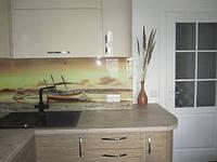 Кухня Бежевый глянец из пленочного МДФ, фото 1